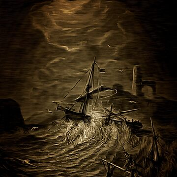He Sinks Into Thy Depths With Bubbling Groan - a Shipwreck by ZipaC
