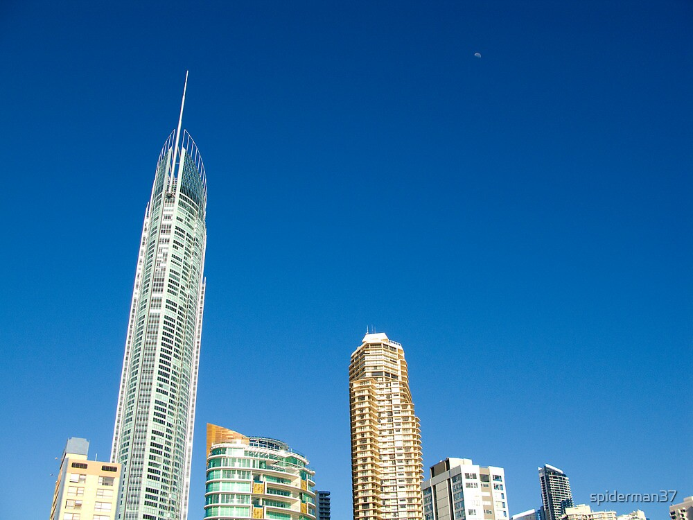 Gold Coast Sky Line, taken from the beach. by Anthony Wilson