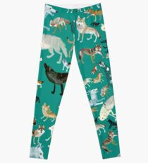 Wolves of the World (Green pattern) Leggings