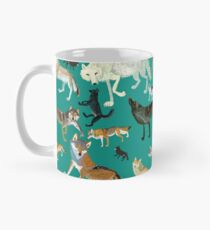 Wolves of the World (Green pattern) Taza