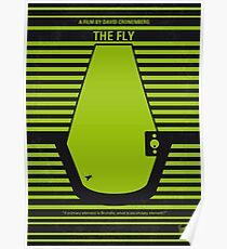 No991 My THE FLY minimales Filmplakat Poster