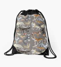 Wolves of the world - Grey Mochila de cuerdas
