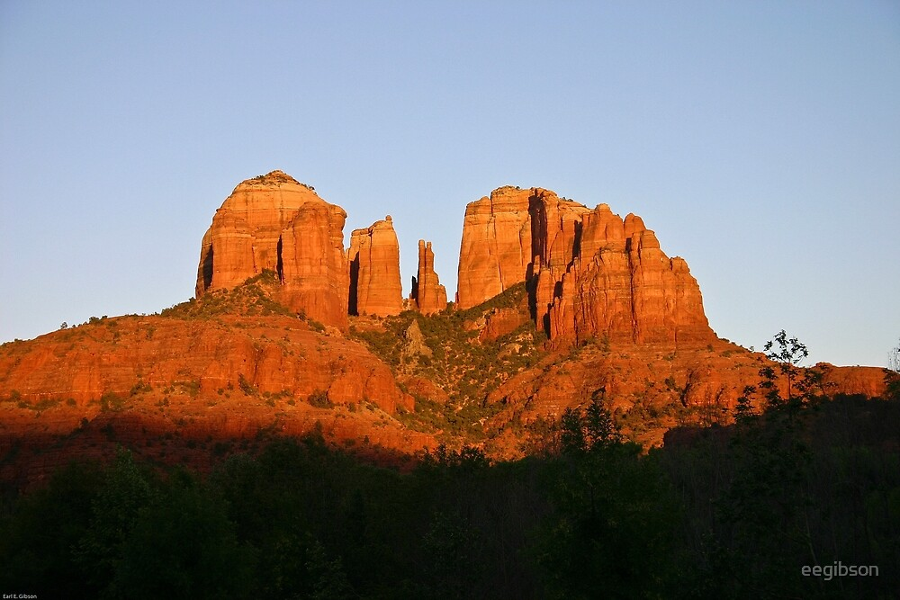Cathedral Rock as the Sun sets by eegibson