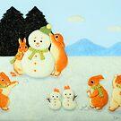 Winterurlaub (2015) Kaninchen / Buny Art von IkuyoFujita