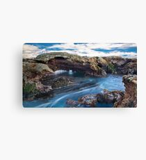 """""""Blue Water Flow"""",Point Roadknight,Anglesea. Canvas Print"""