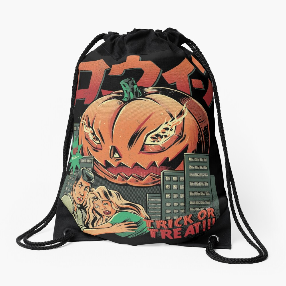 THE KILLER PUMPKIN Drawstring Bag