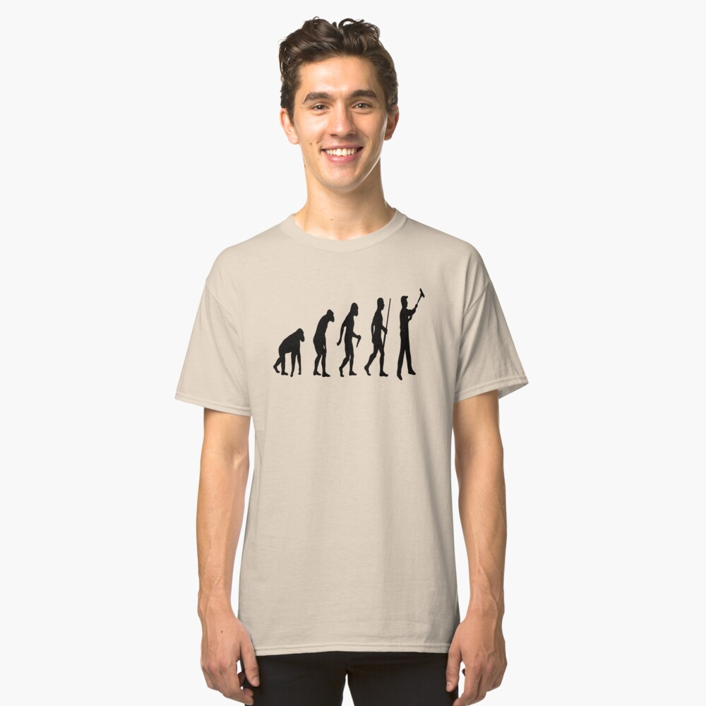 Evolution To Painter  Classic T-Shirt Front
