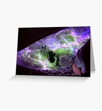 Earth Storm as Willow Watches Greeting Card