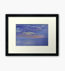 How Tranquil, The Sea Framed Print