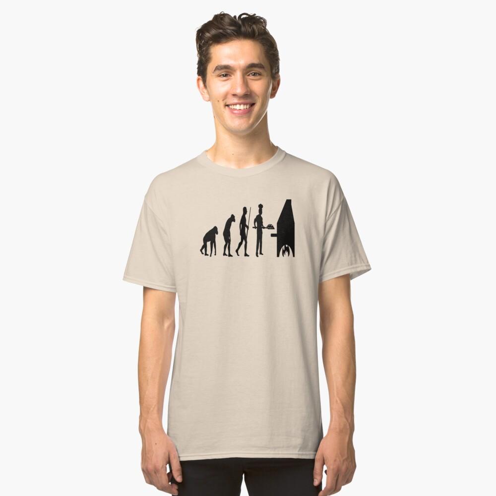 Pizza Bread Baker Evolution Classic T-Shirt Front