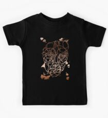 Copper Abstract Face Kids Tee