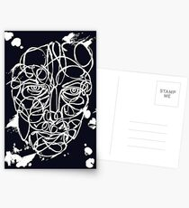 Ink Face Drawing Postcards