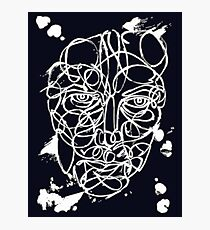 Ink Face Drawing Photographic Print
