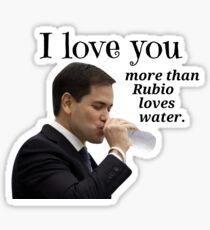 Pegatina Marco Rubio político Valentine