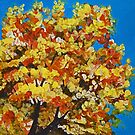 Fall Splendor (Autumn Tree Top) by sharontaylorart