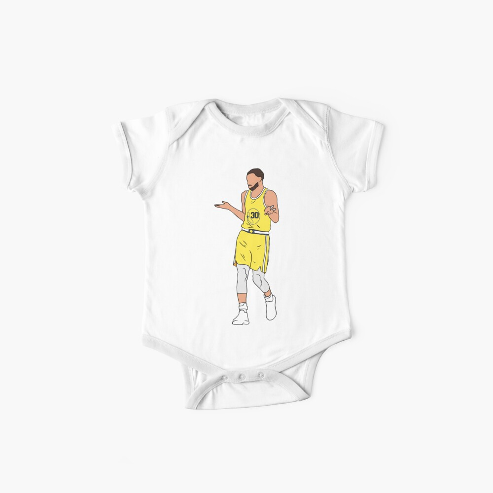 Steph Curry Shrug Baby One-Pieces