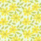 Retro Yellow Flowers by southerlydesign
