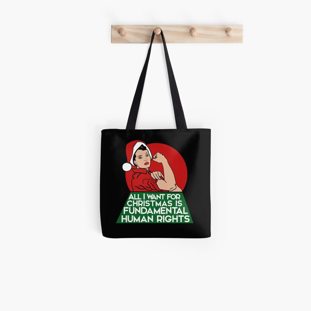 Feminist christmas humor Tote Bag