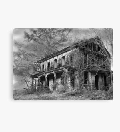 THE HOUSE ON THE LEFT.... Canvas Print