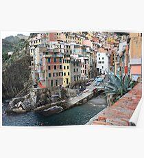 The village of Riomaggiore Poster