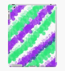 Violet & Green Splatter iPad Case/Skin