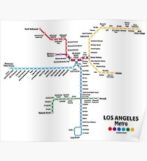 Los Angeles Map Poster Redbubble