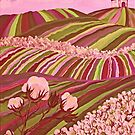 Southern Glory (Tennessee Cotton Field) Pink by sharontaylorart