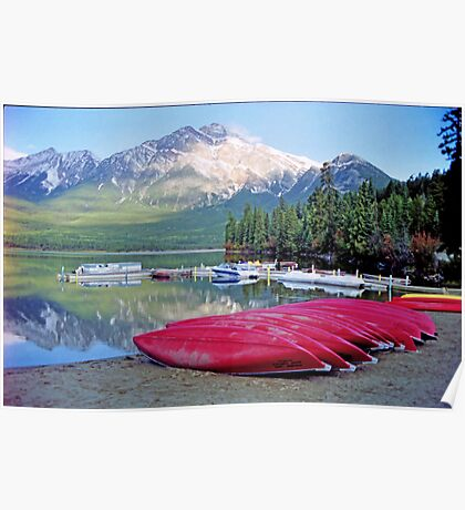 Pyramid Lake, Jasper, Alberta,Canada Poster