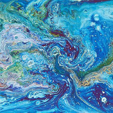 Firebird in the ocean by krinichnaya