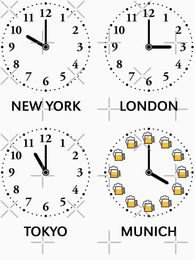 New York – London – Tokyo – Munich (Beer Time) by MrFaulbaum