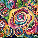 Collidescope Floral Abstract by sharontaylorart