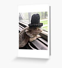 Portrait of the Smaug in a Top Hat, 2016 Greeting Card