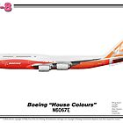 "Boeing B747-8 - Boeing ""House Colours"" (Art Print) by TheArtofFlying"