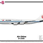 Boeing B747-8 - Air China (Art Print) by TheArtofFlying