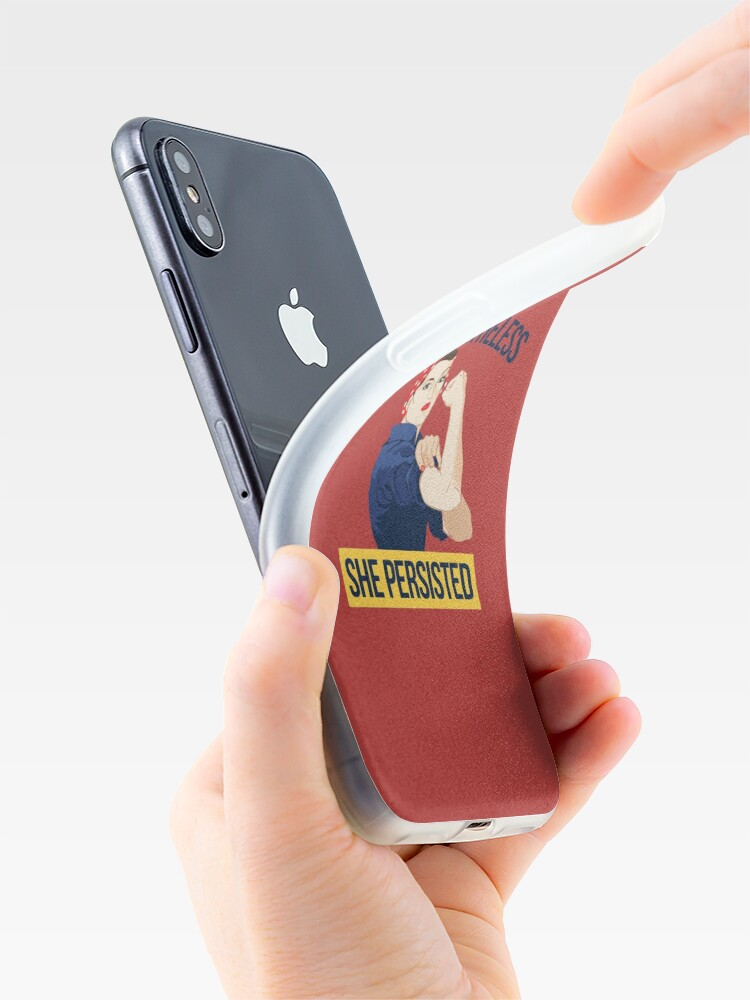 Alternate view of Nevertheless she persisted iPhone Case & Cover