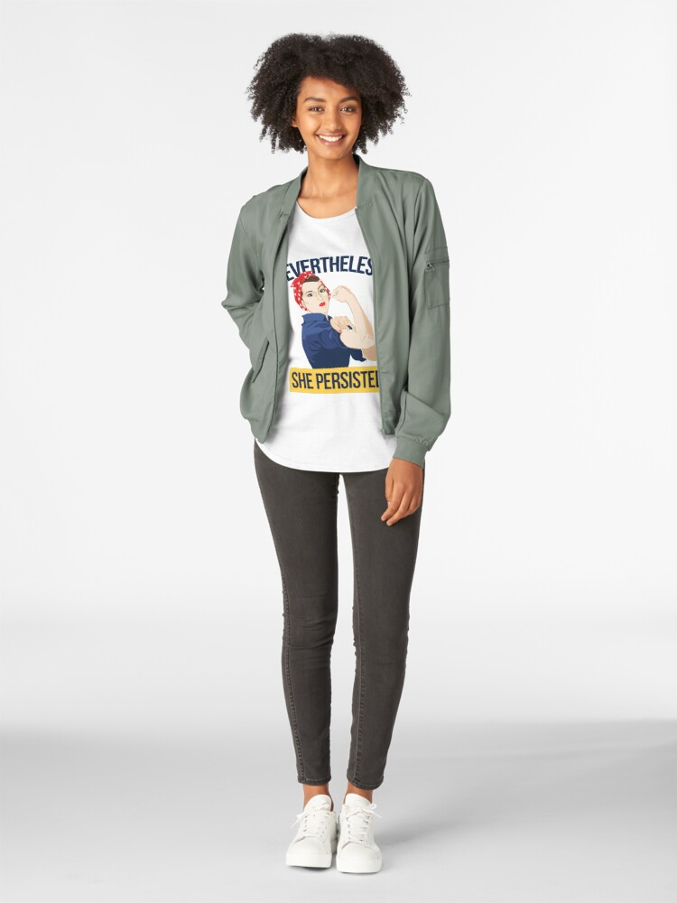 Alternate view of Nevertheless she persisted Premium Scoop T-Shirt