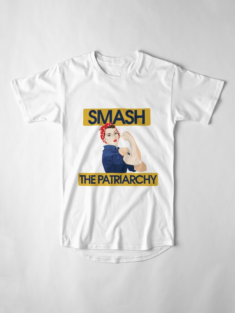 Alternate view of SMASH the patriarchy rosie riveter Long T-Shirt