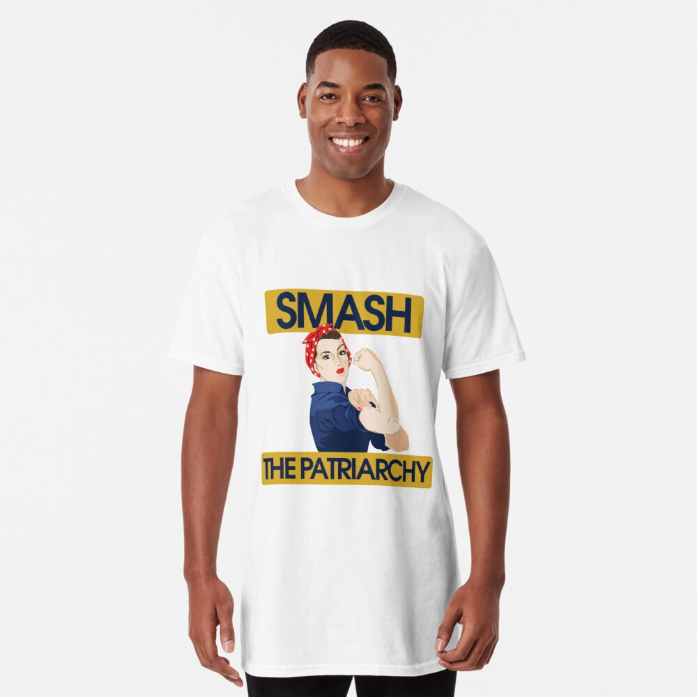SMASH the patriarchy rosie riveter Long T-Shirt