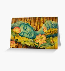 Reclining Buddha Greeting Card