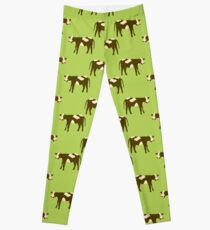 Brown Cows Leggings