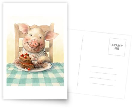 Piggy Loves Choco Cake by Petra Brown