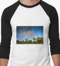 Lake Reflection Men's Baseball ¾ T-Shirt