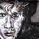 Portrait in mixed media by Dean Harkness
