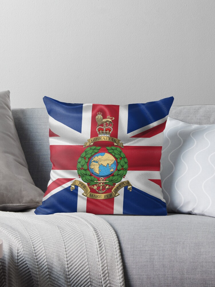 Personalised Royal Marines Commando Regiment Army Military Cushion Cover Gift