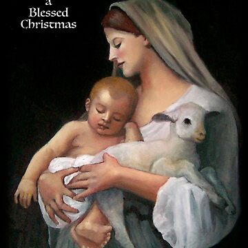 Christmas Greeting, Blessed Christmas, Madonna & Child by Joyce