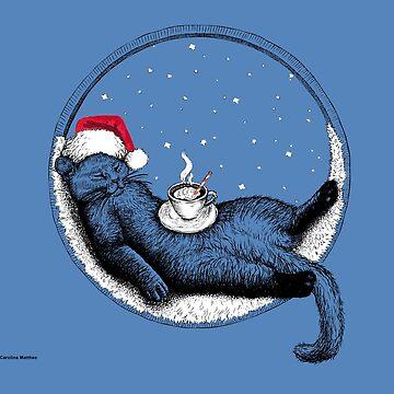 Christmas Cat by CarolinaMatthes