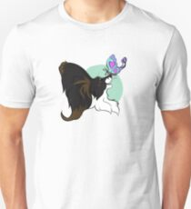 Barking Mad Papillon Pals - Because We're Happy - Wordless T-Shirt