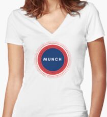 Edvard Munch of Norway Women's Fitted V-Neck T-Shirt