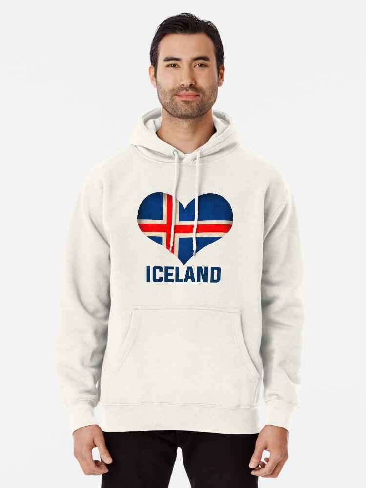 Iceland Flag Vintage Look Zipper Tank Tops Mens Sleeveless Sweatshirt Hoodies