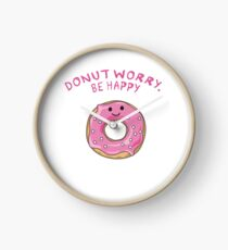 Donut worry, be Happy Uhr